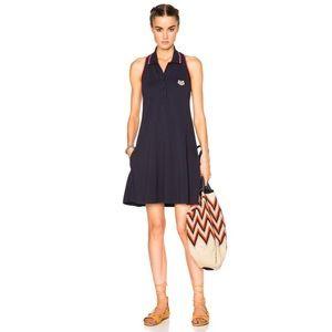📌 Kenzo Sleeveless Logo Navy Polo Dress